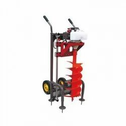 Farmic Brand Earth Auger 63cc Trolley Type, For Digging Holes