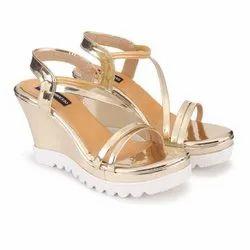 DEEANNE LONDON Women's Golden Fancy Wedges Heel