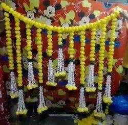 Yellow Marigold Bandarwar, For Decoration