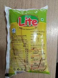 1 Litre Lite Refined Palmolein Oil, Packaging Type: Packet