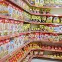 Supermarket Corner Display Rack