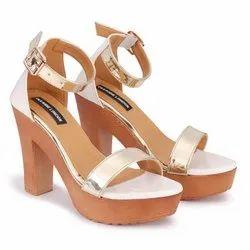 Deeanne London Women's White- Golden Trendy High Heel