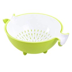 2 in 1 Strain and Bowl Set Detachable Washing Bowl Strainer for Rice, Pulses, Fruits & Vegetables