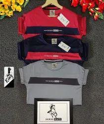 Round Neck T-Shirt Cotton Winter Wear T Shirt, Size: M - L - XL - XXL