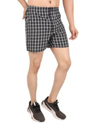 Mens Check Boxer Shorts