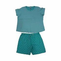 Cotton One Colour Ladies Garments Top Bottom, Size: S To XL