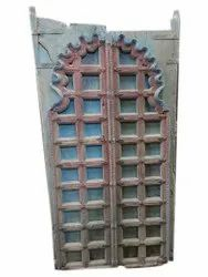 Glossy Finish Carved Wooden Door