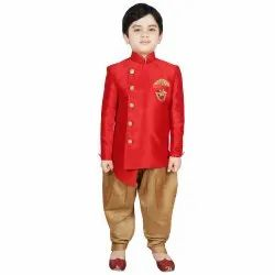 Multicolor Party Wear Indo Western Sherwani With Dhoti, Size: 2-16 Years