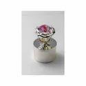 Pink Crystal Silver Box ( Small )