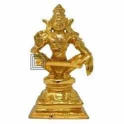 Gold Plated Ayyappan God Statue