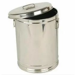 Round Stainless Steel Storage Container, Thickness: 10 mm, Capacity: 25 Litre