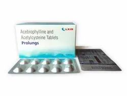 Acebrophylline 100Mg And Acetylcysteine 600Mg Tablets(Prolungs)