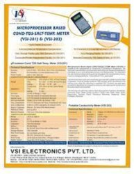 VSI-Microprocessor Based Conductivity-TDS-Salinity Meter