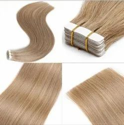 Shiny Brown Indian Human Hair Clip On For Women And Girl Clip Extension