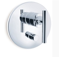 Silver Round Kohler Purist Recessed Bath And Shower Faucet