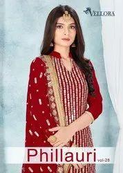Vellora Phillauri Vol 28 Georgette Designer Salwar Suit Catalog