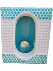 Printed Open Front Acupressure Pan Toilet Seat, For Bathroom Fitting, 21 Inch