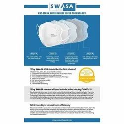 SWASA Reusable N95 Face Mask, Certification: Isi, Bis, Number of Layers: 4