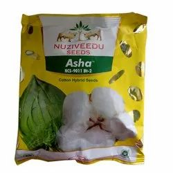 Printed Dried Nuziveedu Asha NCS 9011 BT-2 Hybrid Cotton Seeds, For Sowing Purpose, Packaging Size: 450g
