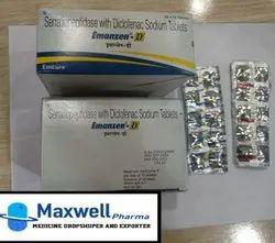 Serratiopeptidase Diclofenac Sodium Tablets