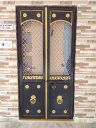 MS Mild Steel Safety Door, For Residential