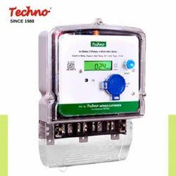 TECHNO Three prepaid dual source energy meter, Model Name/Number: Tmcb012 Lora Enable, 3*240