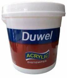 Dulux Matt Duwel Acrylic Distemper Paint, For Wall, Packaging Type: Bucket
