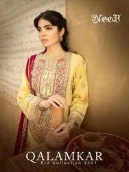 Noor Qalamkar Cotton Embroidered Pakistani Salwar Suit Catalog