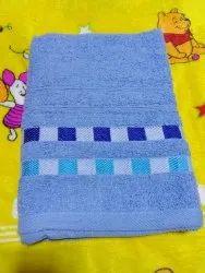 Blue Plain Cotton Terry Towel, 3 To 24 Months
