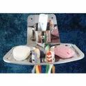 Soap Dish Plate And Brush Holder