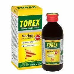 Plastic Expectorants Torex Cough Syrup, Bottle Size: 60 ml