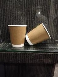 8 Ounce Double Wall Brown Cup