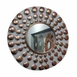Antique Wall Mirror, Packaging Type: Box, Mirror Shape: Round