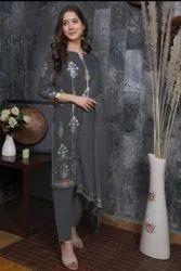 Suman Tex Ladies Embroidered Cotton Pant Suit