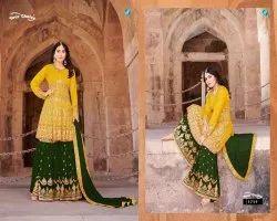 Your Choice Princess Georgette Eid Special Garara Salwar Kameez Wholesale Catalog