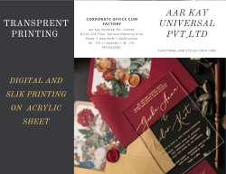 White Acrylic Transprents Printing Services, Location: Delhi, Size: Std