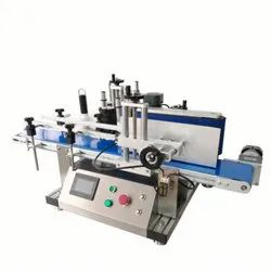 Fully Automatic Compact Table Top Sticker Labeling Machine Model AVLM - 50 - Round