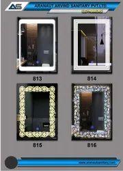 LED Sensor Clock Mirror