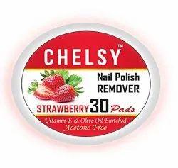 Strawberry Chelsy Nail Polish Remover Wipes, Box