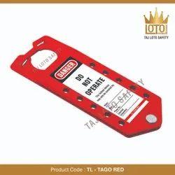 Aluminium Lockout Hasps TL - Tago Red Tago Hasp - Red