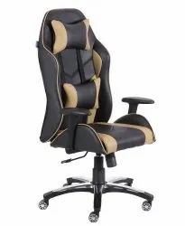 High Back Leatherette Gaming Any Time Chair Black & Cream (VJ-2004)