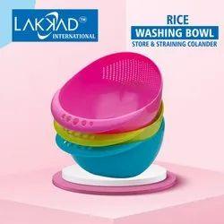 Multicolor Plastic Rice Bowl, Size: Regular