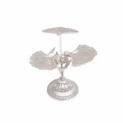 3-in-1 Shell Design Silver Platter Centerpiece