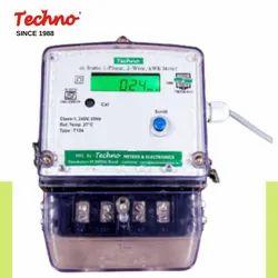 Single Techno Rs 232 Port Energy Meter 1 Phase, 240
