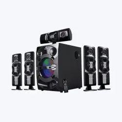 Zebronics Zeb- Trump Btrucfo 5.1 Home Theater Speaker, 80 Watts