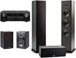 Black Wooden Polk Fusion T Series 5.0 Speaker Package, 400W