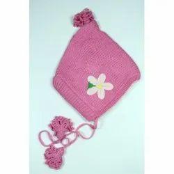 Pink Kids Woolen Cap