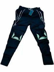 Navy Blue 4 Ways Lycra Mens Cotton Sport Wear Lower, Size: Medium