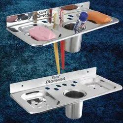 Triangular Soap Dish Plate And Brush Holder