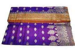 6m Party Wear Banarasi Silk Saree, With Blouse Piece